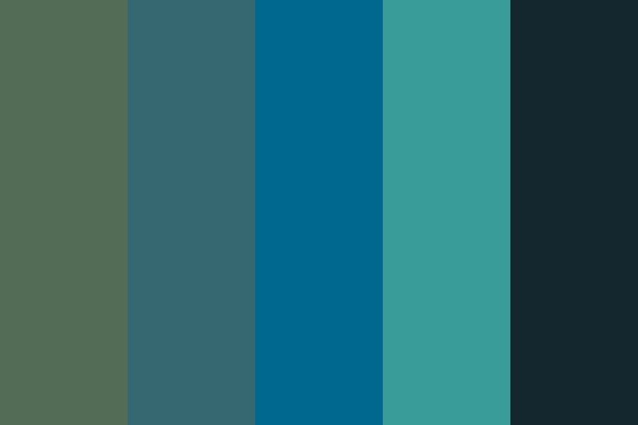 Plastic Beach Twilight Color Palette
