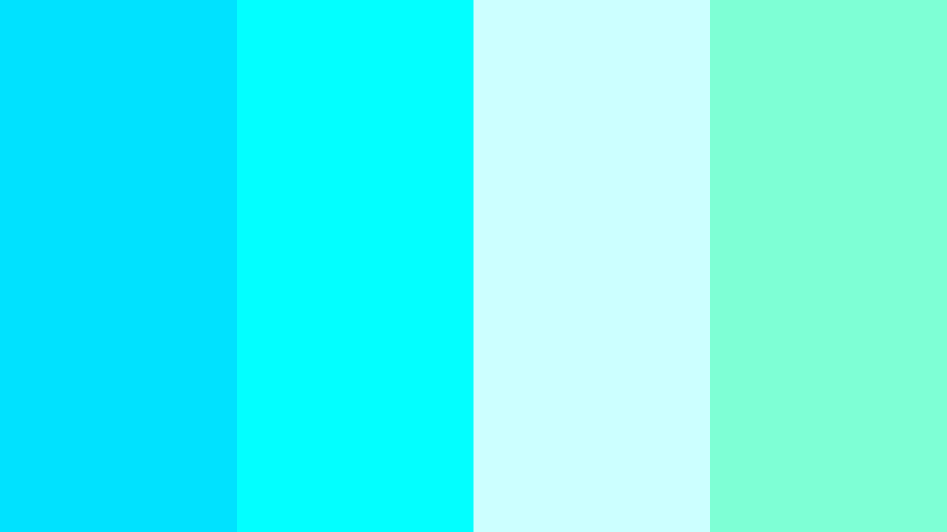 Play With Aqua Color Palette