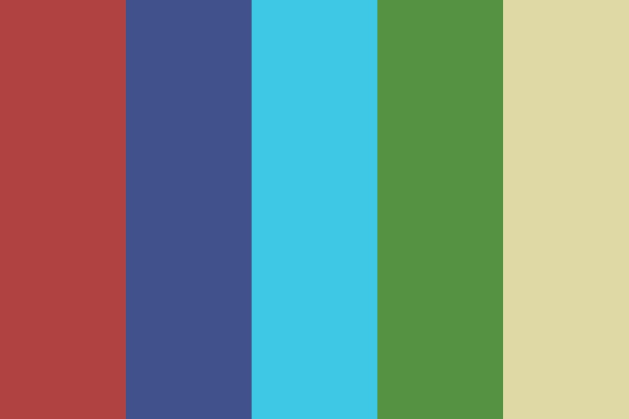 Pool Party At Night Color Palette