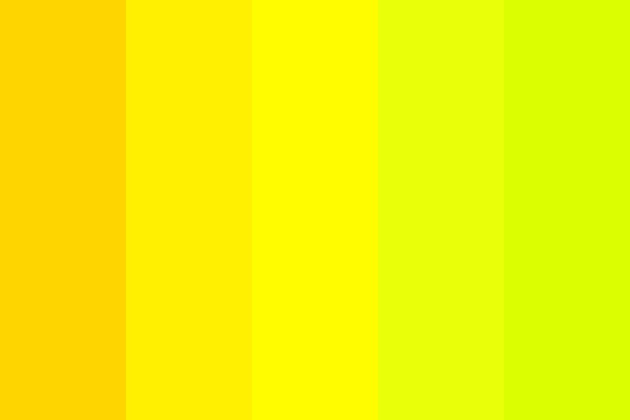 Pop Yellow Green Color Palette