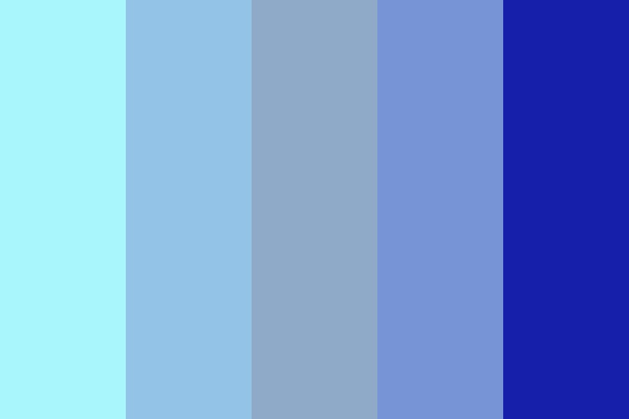 Portrait Blues Color Palette