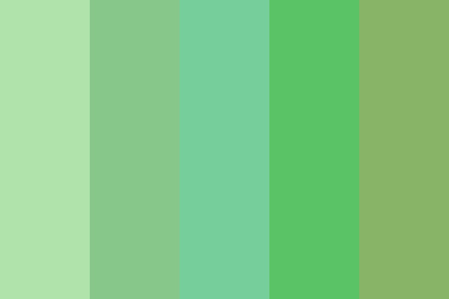 Portrait Greens Color Palette