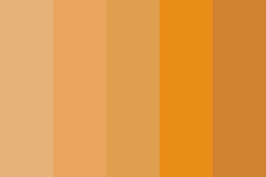 Portrait Oranges Color Palette