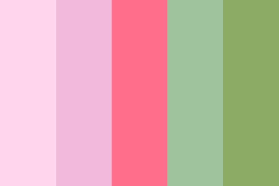 Powedered Strawberry Color Palette