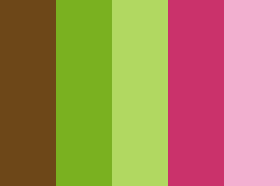 Preppy Pink And Green Color Palette
