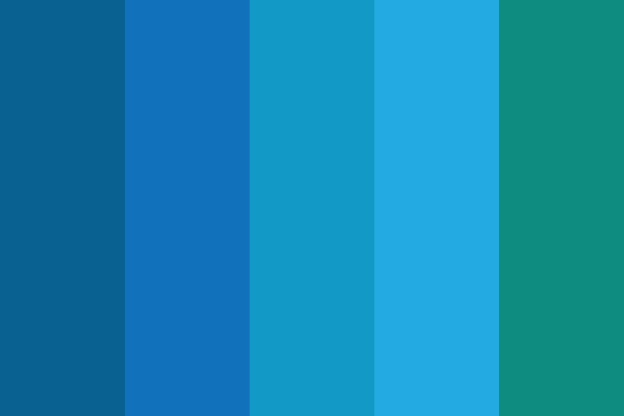 Professional Blue Color Palette