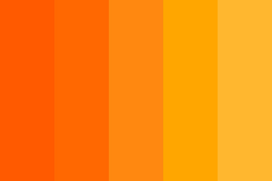 Pumpkins For Halloween Color Palette