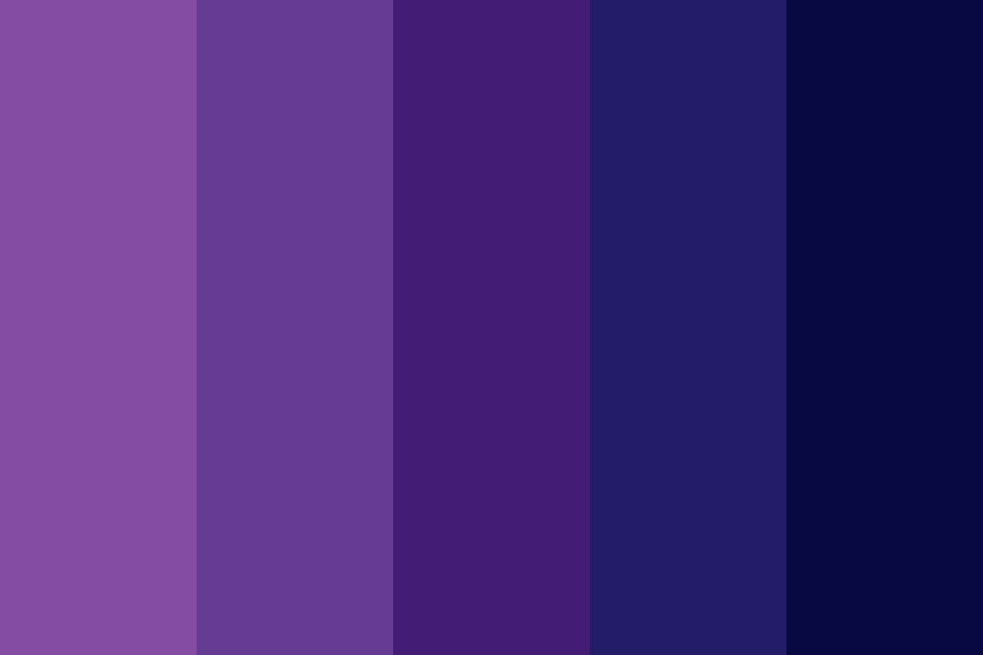 Purple And Blue Day Color Palette