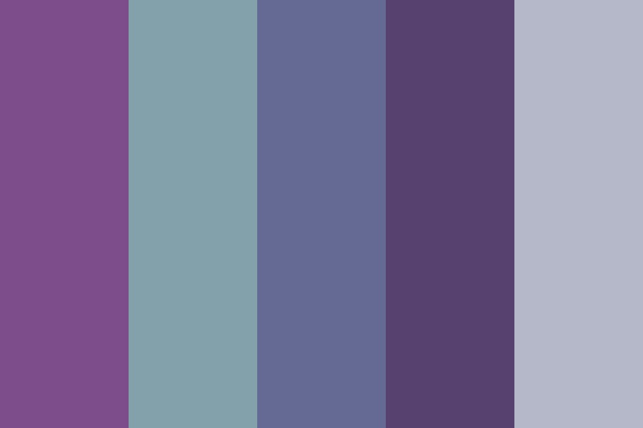 Purple And Blue Denimz Color Palette