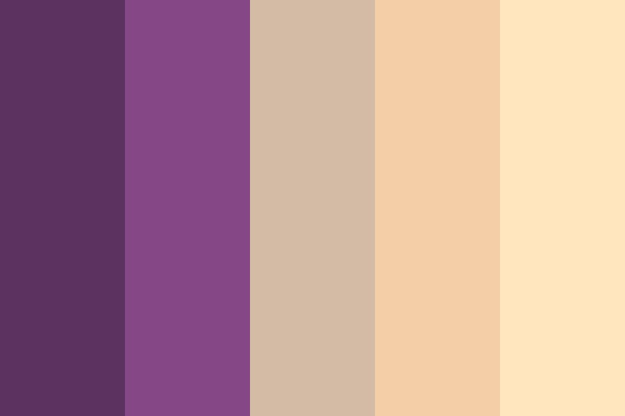 Purple And Peach Color Palette
