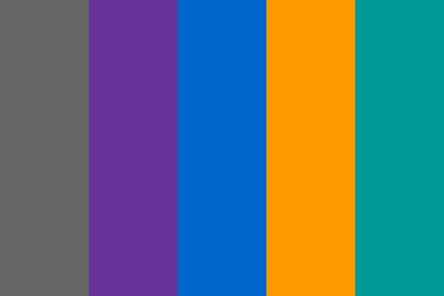 Purple Blue Green Websafe Color Palette