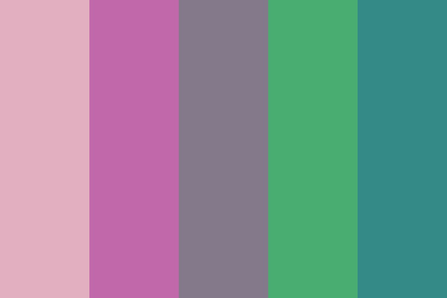 Purple Gradeint And Green Accent Color Palette