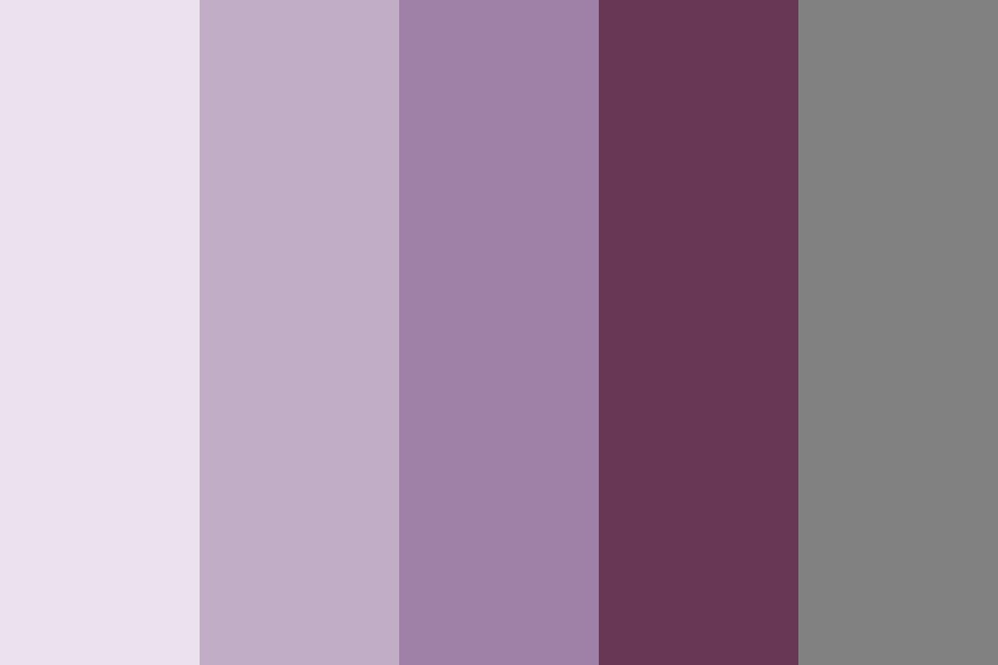 Purple Shades With A Grey Color Palette