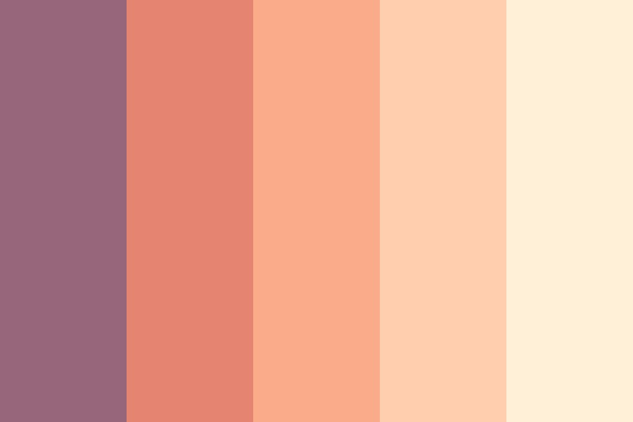 Purple Sunset On The Sea Color Palette