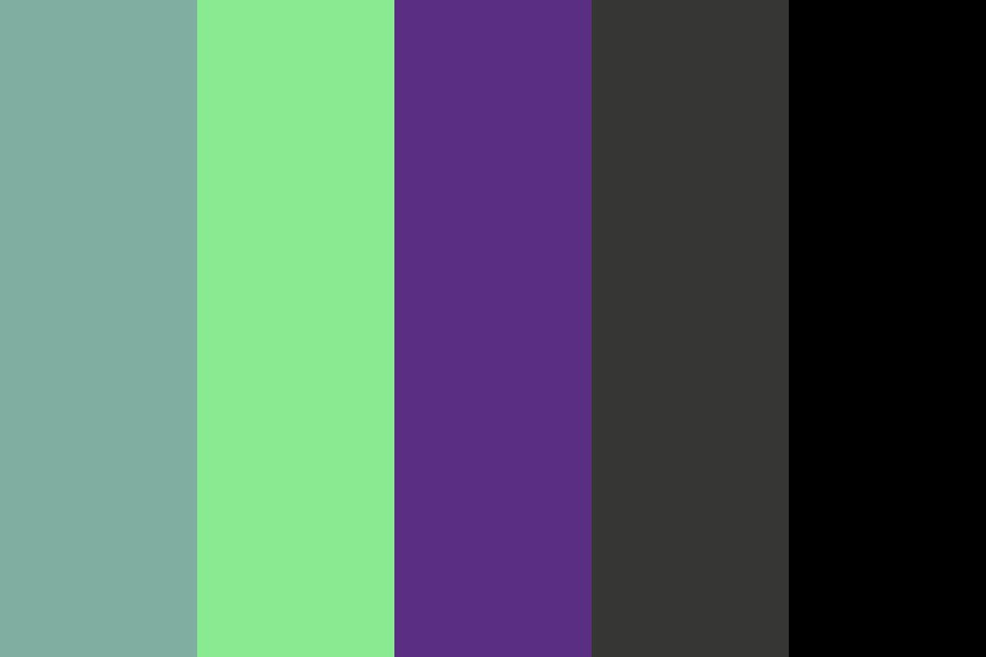 Purple green Color Palette