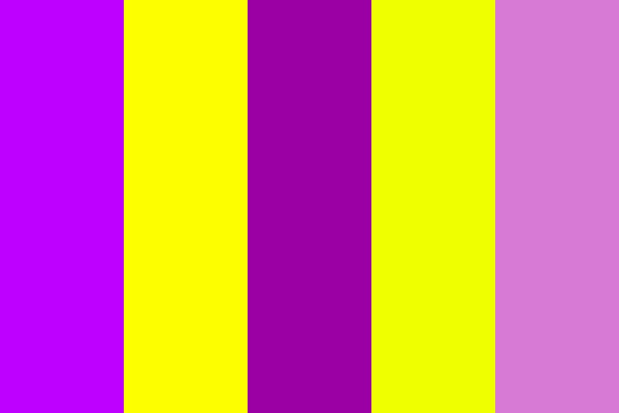 Purples And Yellows Color Palette