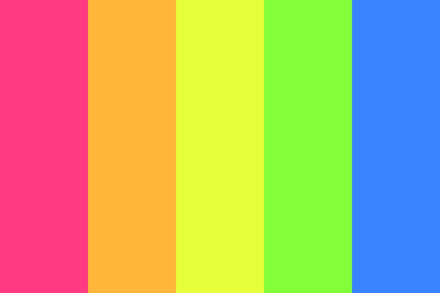 Rainbow Of Insanity Color Palette
