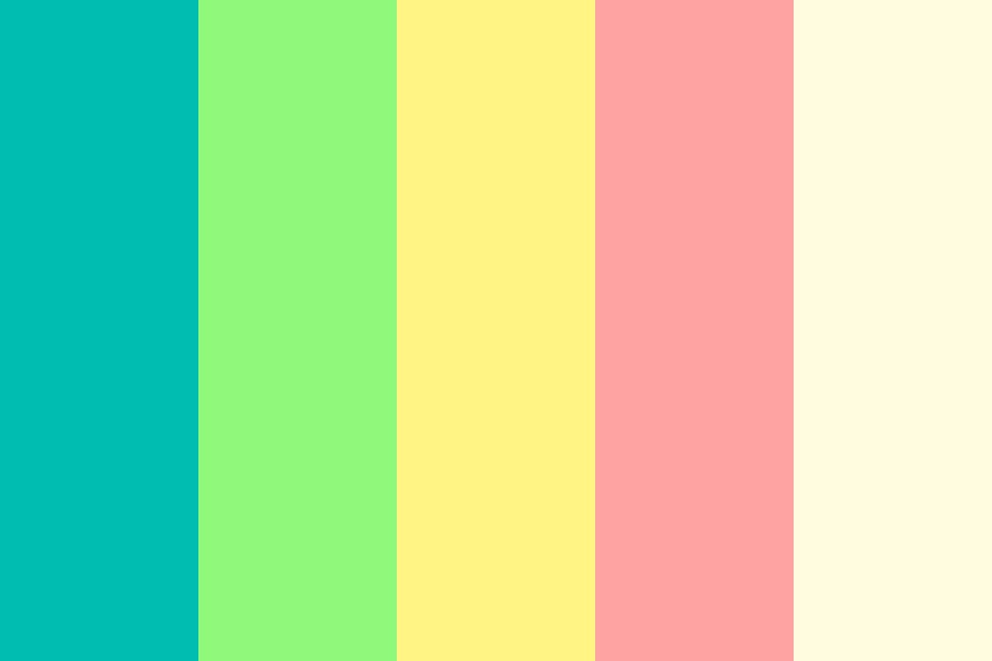 Rainbow Popcorn Color Palette