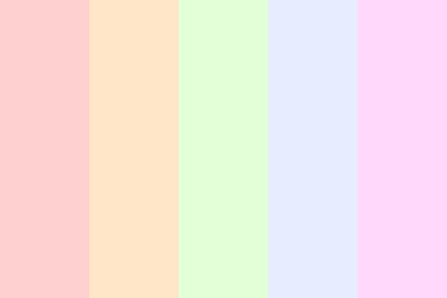 Rainbow Psstel Color Palette