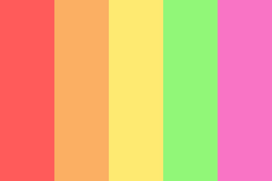 Rainbow Sherbert Color Palette