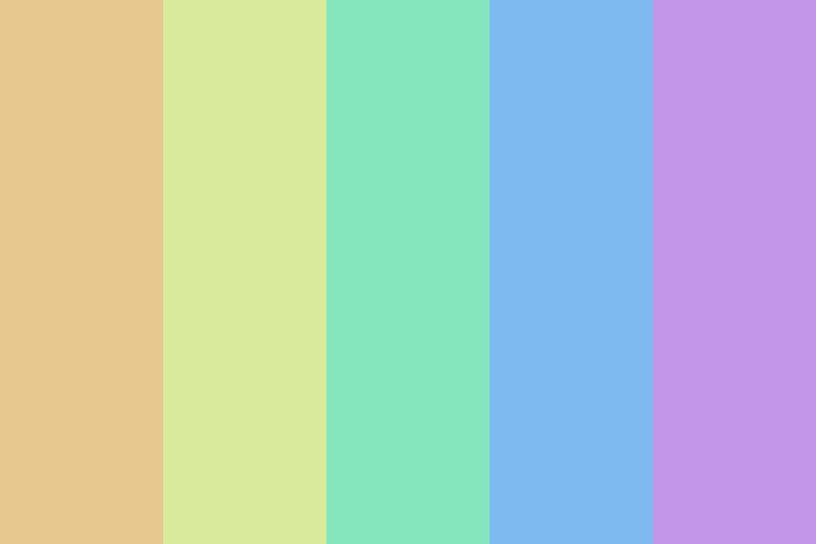Rainbow Without Red Color Palette
