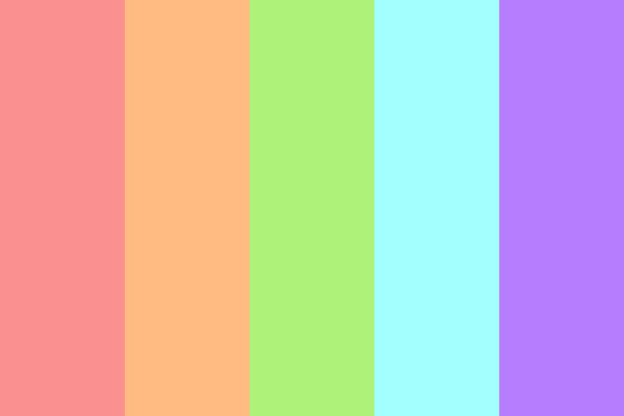 Rainbow Xylophone Color Palette