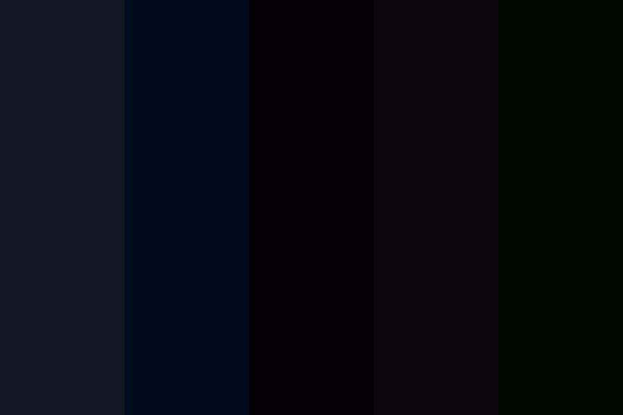 Raven Black Hair Swatches Color Palette