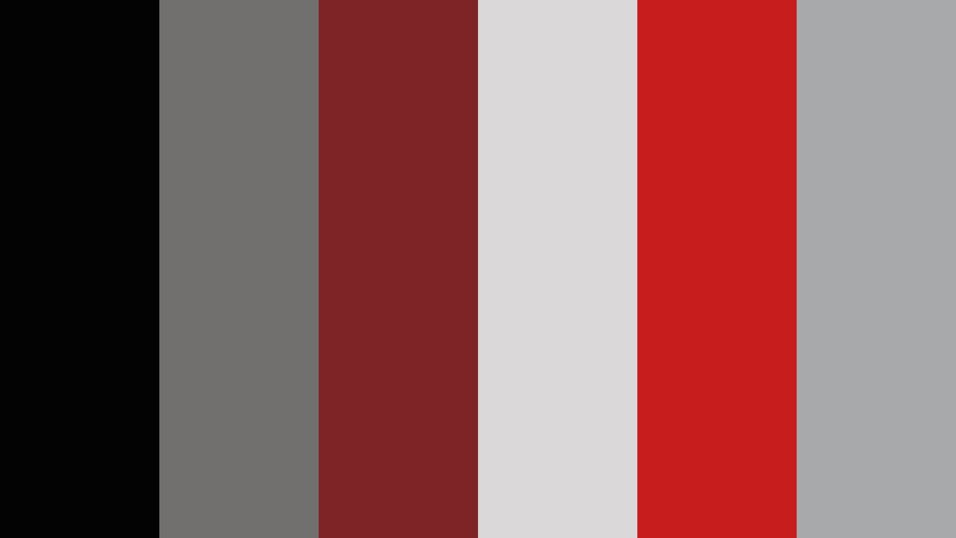 Red, Silver And Black Color Palette