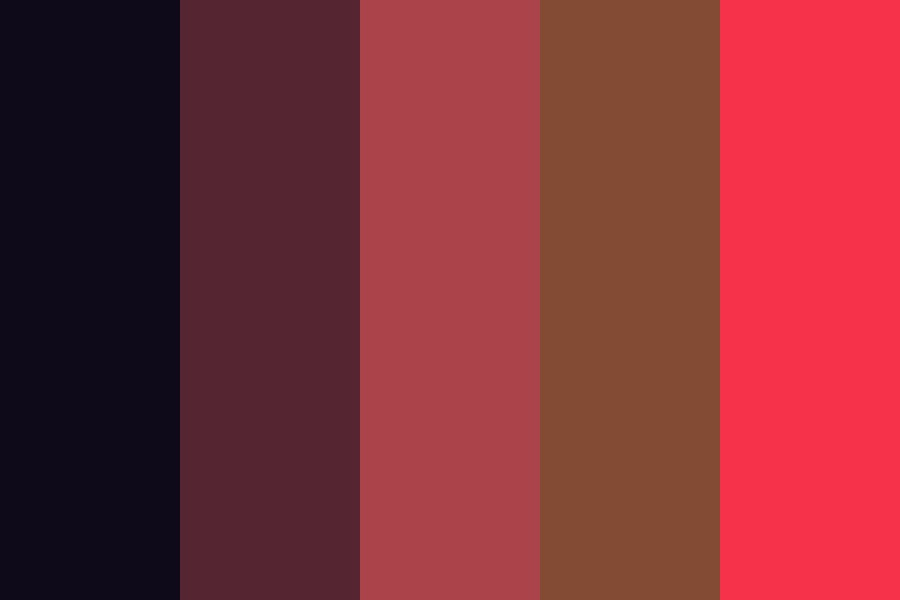 Red And Brown Color Palette
