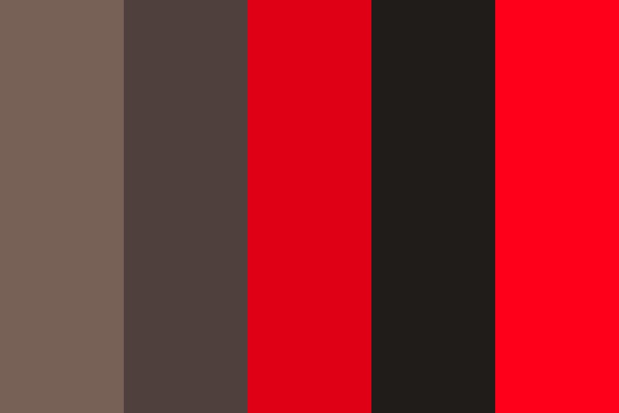 Red And Browns Color Palette