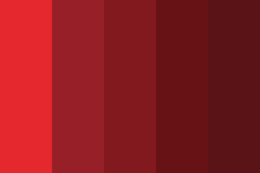 Red Anime Hair Shades Color Palette