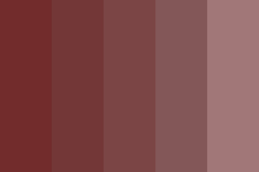 Red Cherry Blossom Color Palette