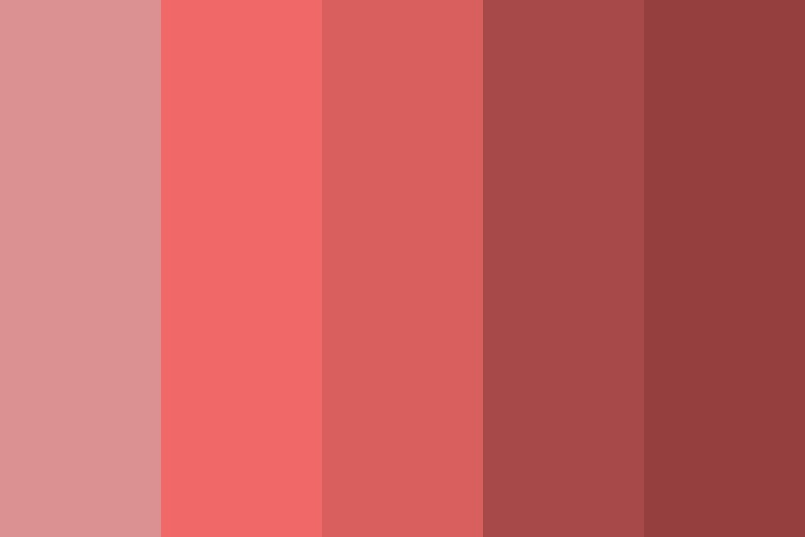 Red Color Of Love Color Palette