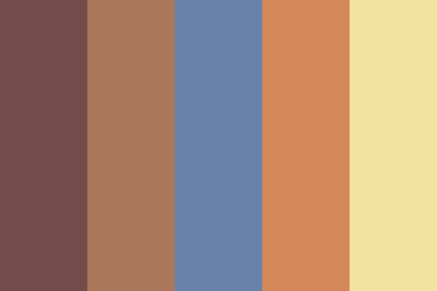 Red Fire For Blue Eyes Color Palette