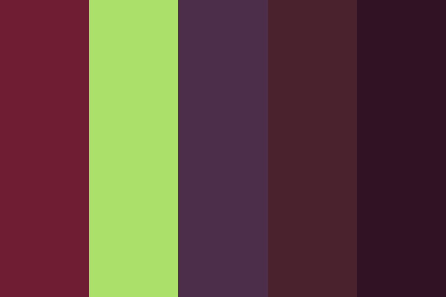 Red Grapes And Green Grapes Color Palette