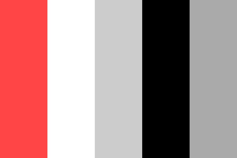 Red Gray Black Color Palette