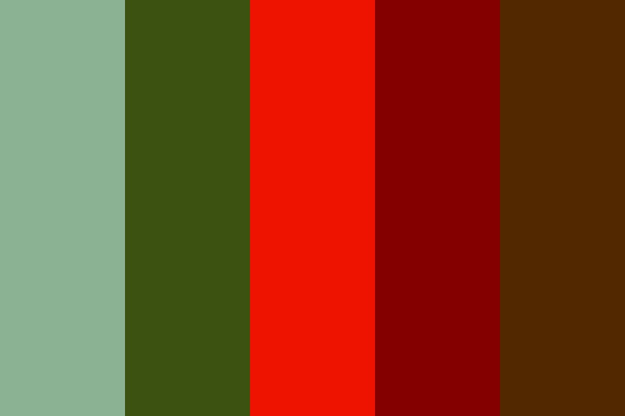 Red Green And Brown Color Palette