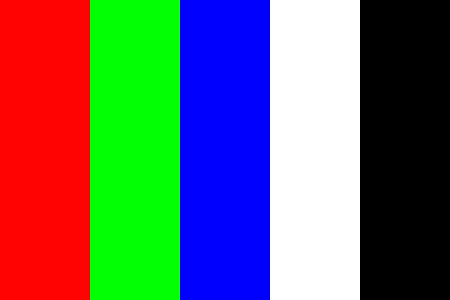Red Green Blue White Color Palette
