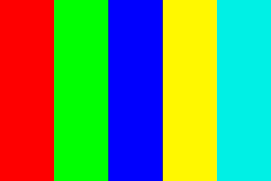 Red Green Blue Yellow Cyan Color Palette