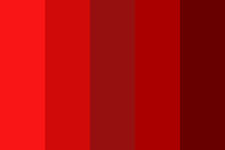 Red Lips Color Palette