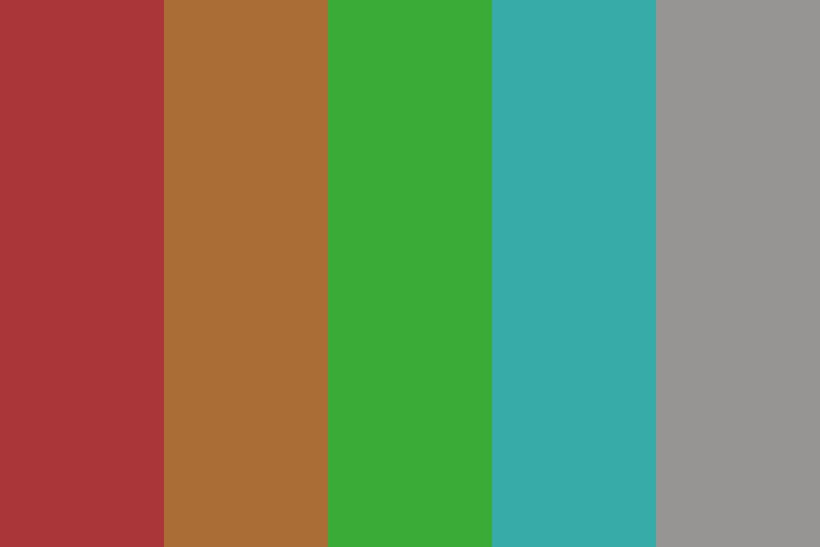 Red Roof Color Palette