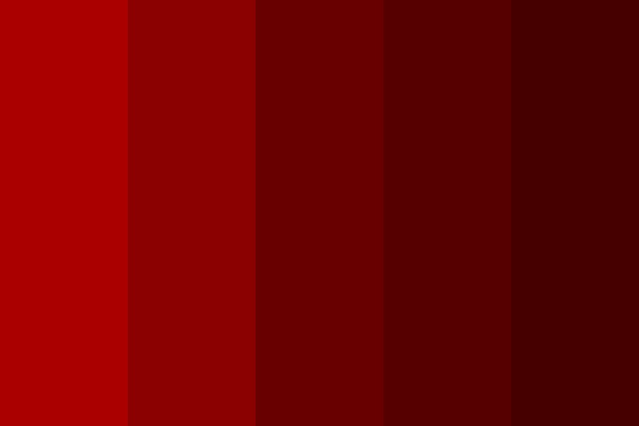 Red Room Of Pain Color Palette