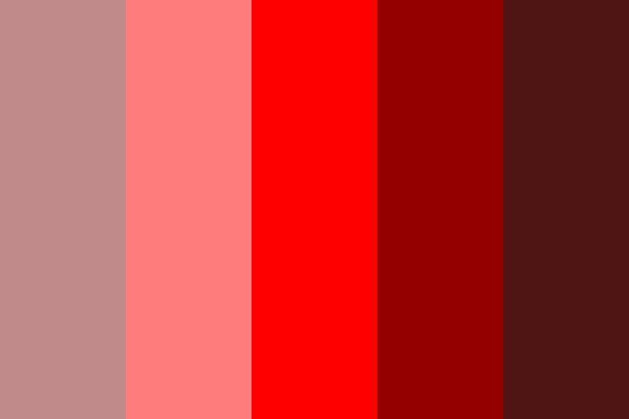 Red Shades And Tints Color Palette