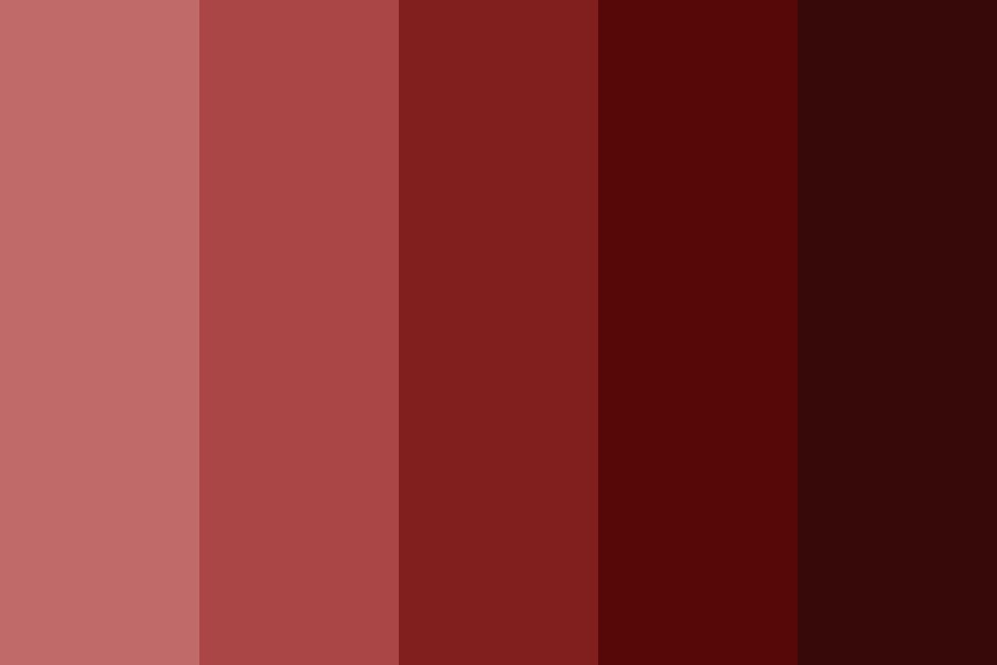 Red Shading Color Palette
