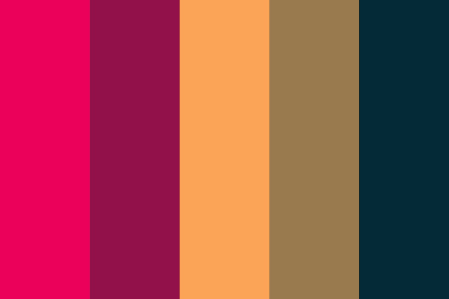 Red Sky Yellow Moon And Chain Color Palette