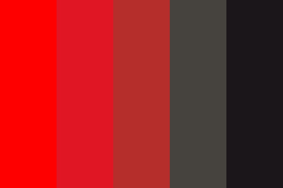 Red To Black Do Color Palette