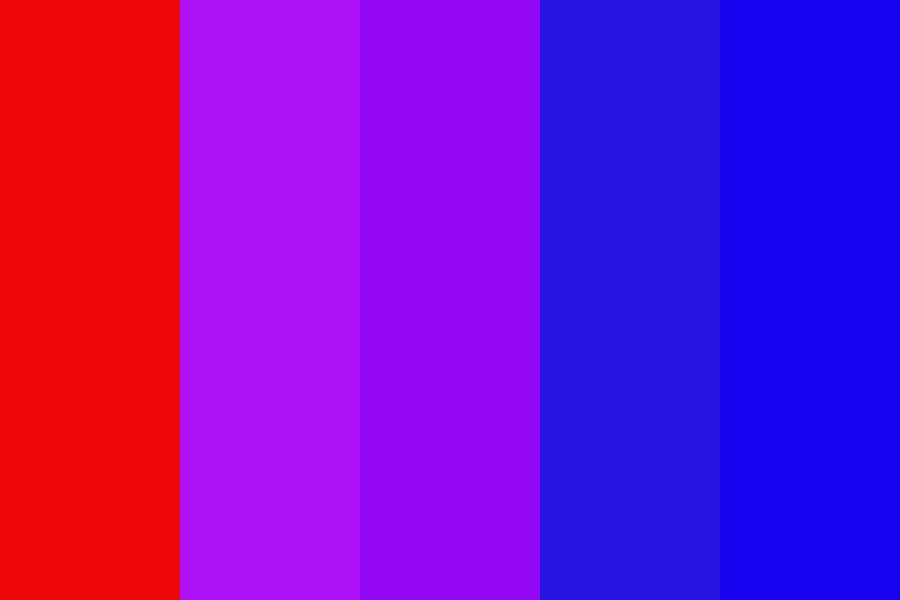 Red To Blue Gradient Color Palette