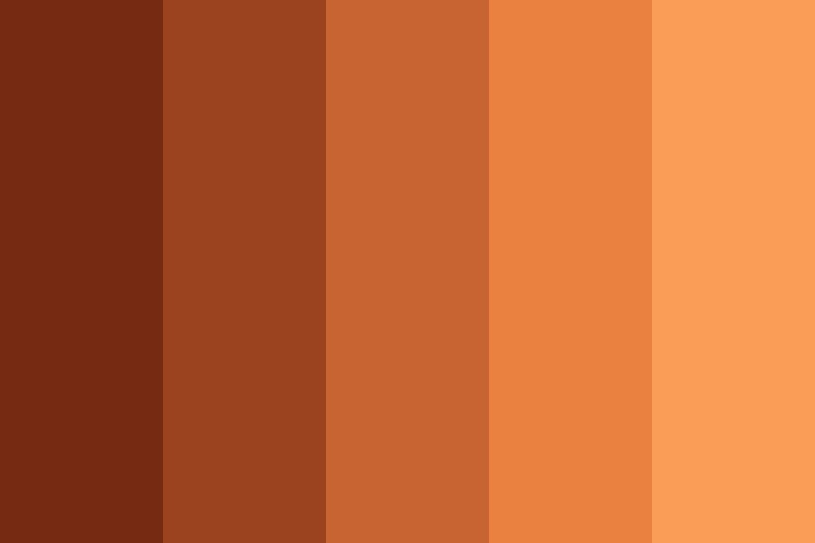 Red To Fawn Color Palette