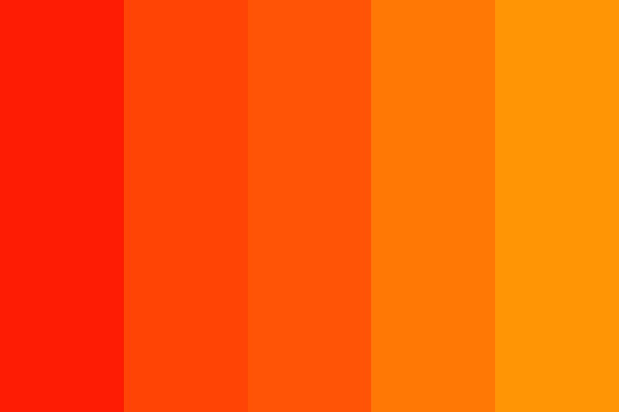 Red To Orange Color Palette Color Palette