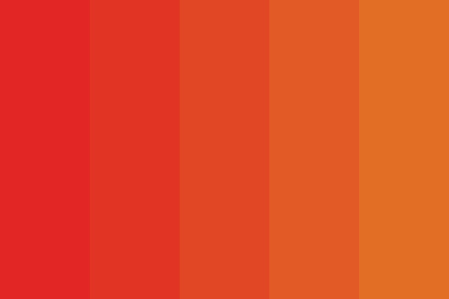 Red To Orange Fade Color Palette